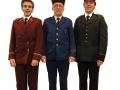 Drie voormalige uniformen
