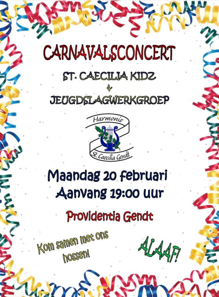 Poster carnavalsconcert 20-02-2017
